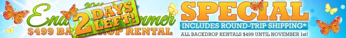 The Endless Summer Backdrop Rental Special 2014