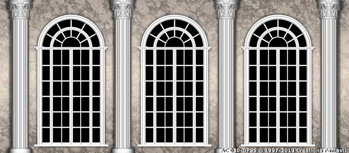Backdrop AC 030-DPSS-CUT Palace Arch Windows