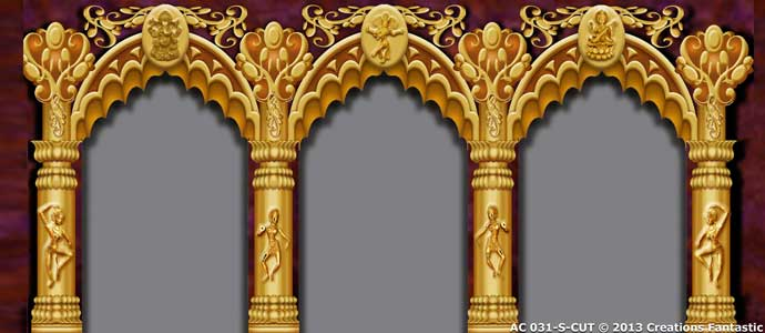 Backdrop AC 031-S Indian Dance Temple Arches
