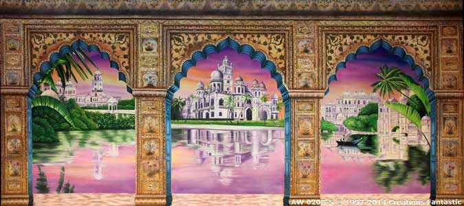 Backdrop AW020B-S Indian Palace Arches 1B