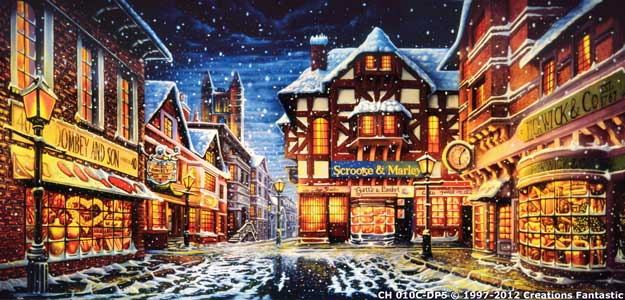 Backdrop CH010C-DP5 Dickens Christmas Street 1C