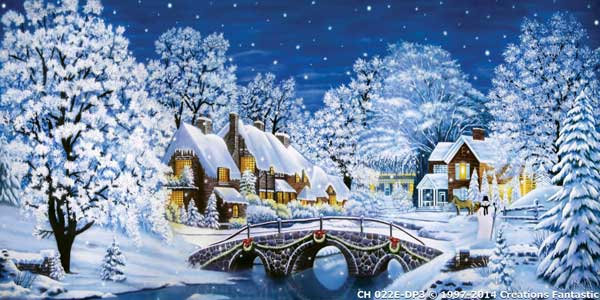 Backdrop CH022E-DP3 Christmas Village 5E