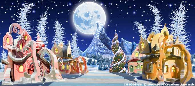Backdrop CH030F-SS Whoville Christmas 2F
