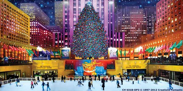 Backdrop CH 031B-DP3 Rockefeller Center Christmas B