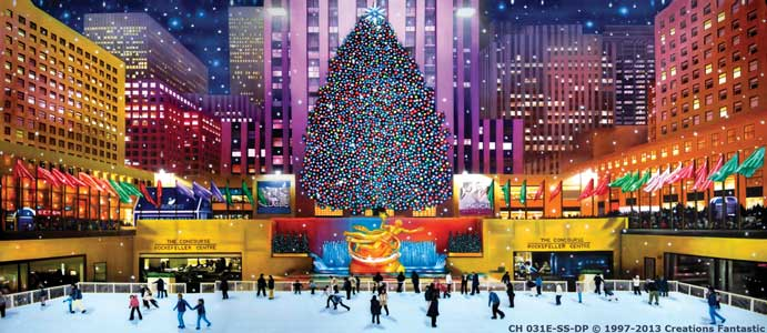 Backdrop CH 031E-SS-DP Rockefeller Center Christmas E