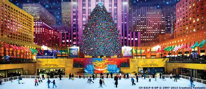 Backdrop CH 031F-S-DP Rockefeller Center Christmas F