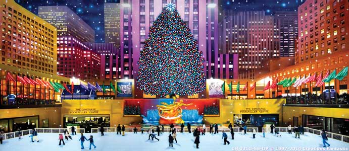 Backdrop CH 031G-SS-DP Rockefeller Center Christmas G