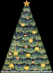 Backdrop CH051-CUT Growing Christmas Tree 2
