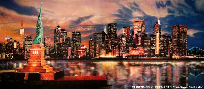 Backdrop CI 002B-SS New York Sunset B