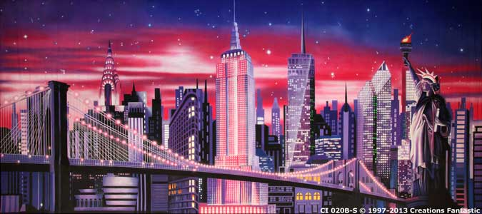 Backdrop CI 020B-S New York Stylized B