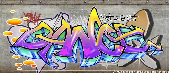 Backdrop DA 020-S Dance Graffiti 1