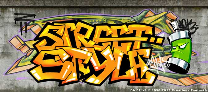Backdrop DA 021-S Dance Graffiti 2