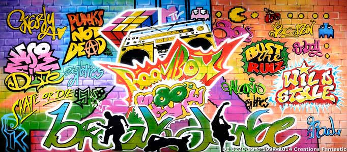 Backdrop DE022C-SS 1980's Graffiti C