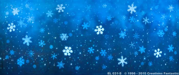 Backdrop EL031-S Snowflakes 4