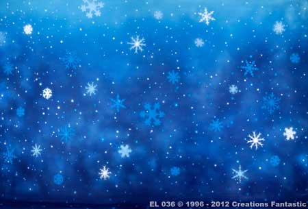 Backdrop EL036 Snowflakes 8