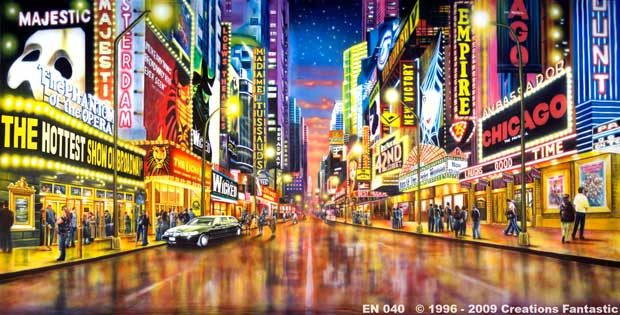Backdrop EN040 Broadway Theatre District
