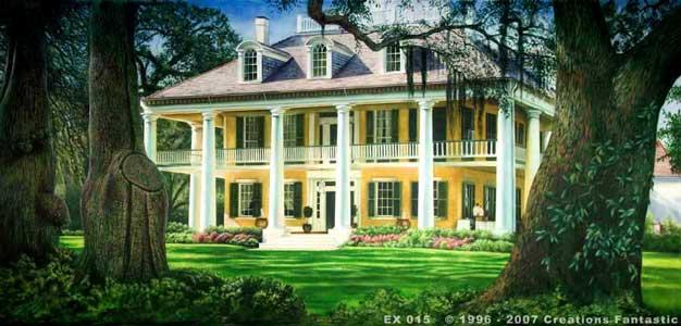 Backdrop ex015 plantation house for Plantation house