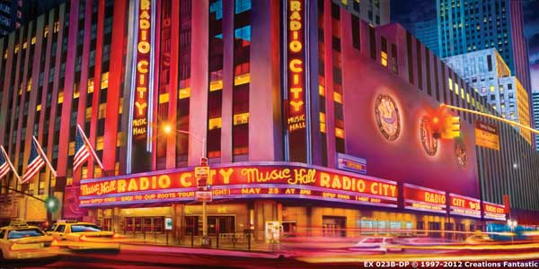 Backdrop EX 023B-DP Radio City Music Hall B