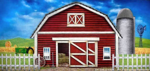 Backdrop EX 025 Red Barn Exterior