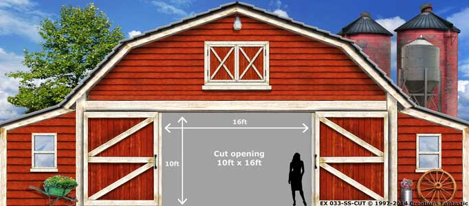 Backdrop EX 033-SS-CUT Red Barn Exterior 3