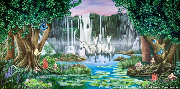 Backdrop FY 003 Fantasy Unicorns