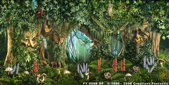 Backdrop FY004B Fantasy Forest 1B