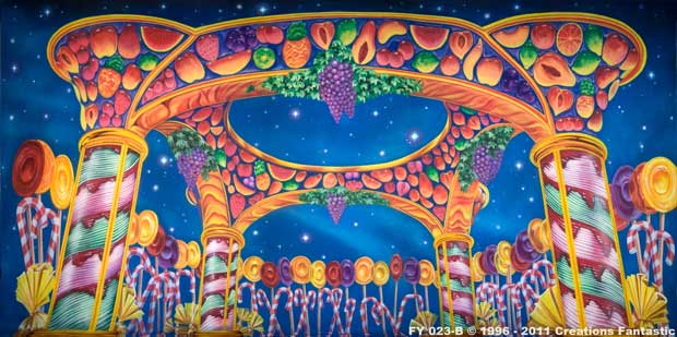 Backdrop FY023B Candy Kingtdom - Night B