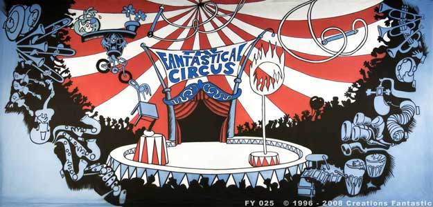 Backdrop FY 025 The Fantastical Circus