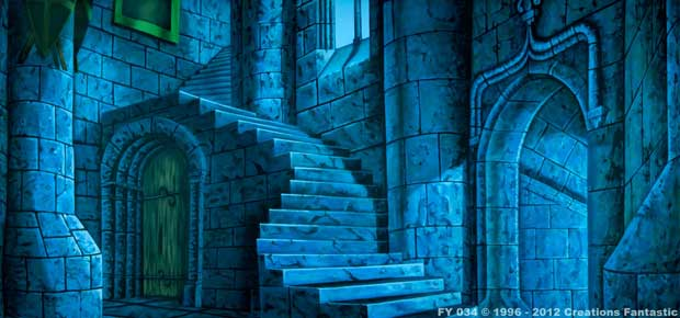 backdrop fy034 moonlight castle interior