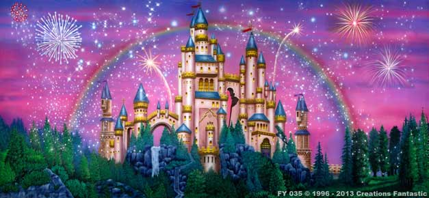 Backdrop FY035 Fairy Tale Castle 1