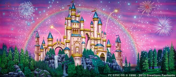 Backdrop FY 035C-SS Fairy Tale Castle 1C