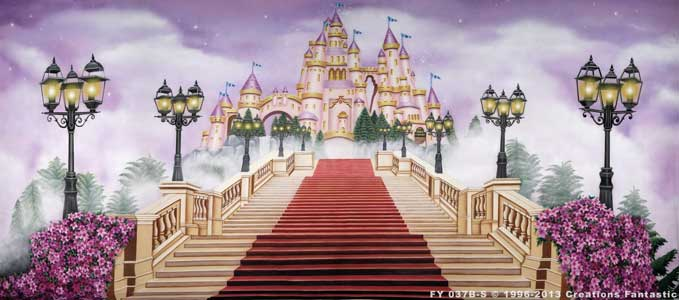 Backdrop FY037B-S Fairy Tale Castle 2B