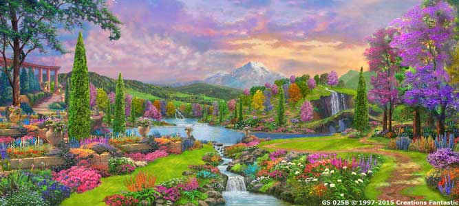Backdrop GS025B Fantasy Garden Landscape 1B