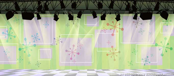 Backdrop IN 066-SS Hairspray Retro  TV Studio Interior