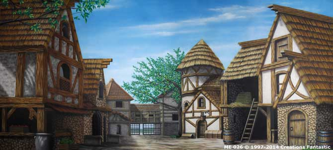 Backdrop ME 026 Medieval Village 1