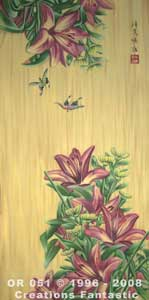 Backdrop OR051 Oriental Flower Panel 11