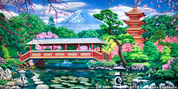 Backdrop OR 054 Japanese Garden 1