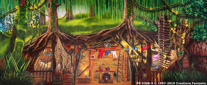 Backdrop PP 030B S Peter Pan Lost Boys Hideout 1B