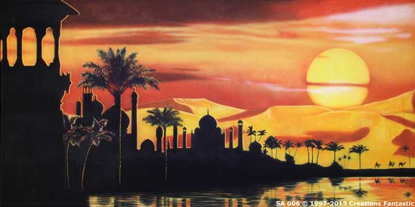 Backdrop SA 006 Sunset Desert Oasis 1