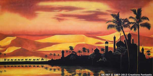 Backdrop SA 007 Sunset Desert Oasis 2