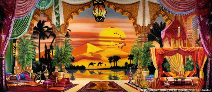 Backdrop SA 011-S Arabian Palace Oasis 2
