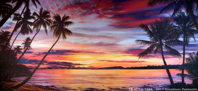 Backdrop TB071 Tropical Beach Sunset 2