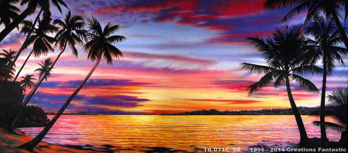 Backdrop TB071C-SS Tropical Beach Sunset 2C