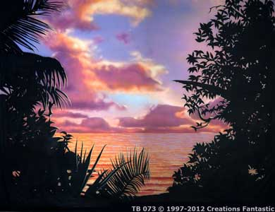 Backdrop TB073 Tropical Beach Sunset 4
