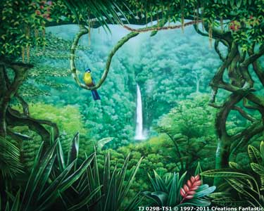 Backdrop TJ 029B-DPTS1 Tropical Jungle 13B