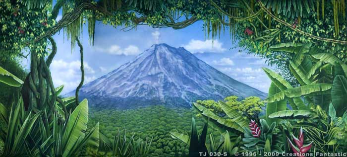 Backdrop TJ0 030-S Tropical Jungle 14