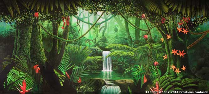 Backdrop TJ 003B Tropical Jungle 3B