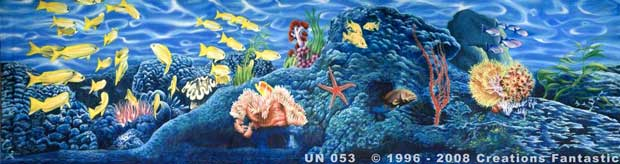 Backdrop UN053 Undersea Door Set Header