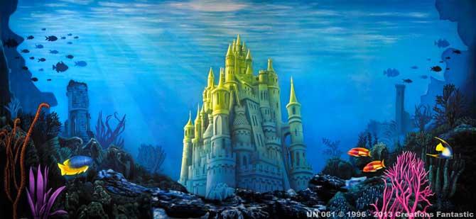 Backdrop Un061 Undersea Castle