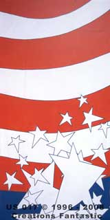 Backdrop US 017 Red White and Blue Panel 5